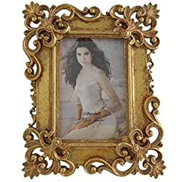 Gift Garden Gold Ornate Picture Frame 4 by 6 Inch