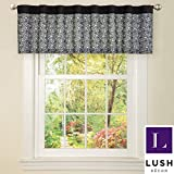 Metro Shop Black Faux Silk Leopard Window Valance