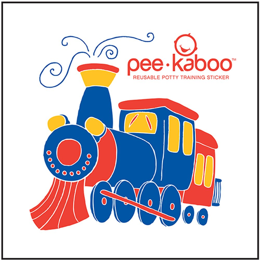 Pee-kaboo Reusable Potty Training Sticker for Potty Chair - See an Image Magically Appear When They Pee, LR-ChooChoo Train