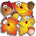 Scholastic TF3253 Autumn Leaves & Acorns Accent Punch-Outs