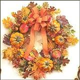 """24"""" Festive Pumpkin & Gourd Fall Wreath"""