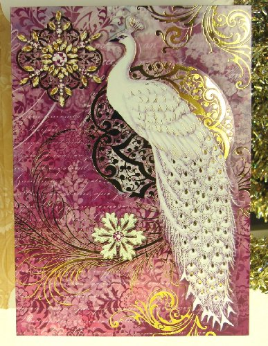 Punch studio 59546 christmas greeting cards snowwhite peacock die check price order now m4hsunfo
