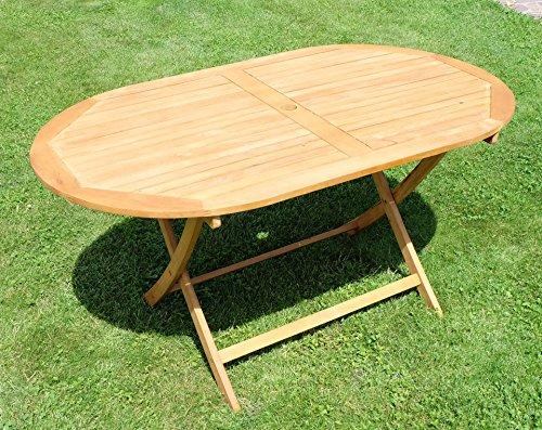 Klapptisch-Holztisch-Gartentisch-Garten-Tisch-oval-150x90cm-gelt-Holz-Eukalyptus-wie-Teak-von-AS-S