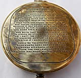 Vintage Antique Robert Frost Poem Compass. C-3142