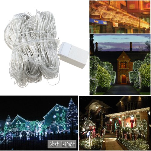 Image® 300 Led Cool White Net Mesh Outdoor Fairy String Lights For Wedding Christmas Xmas Thanksgiving Party Events Home Roof Decor Tree-Wrap