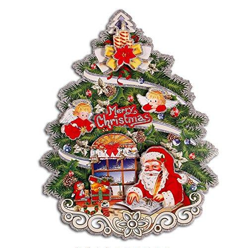 ufengker-merry-christmas-floccaggio-albero-di-natale-babbo-natale-piccolo-angelo-3d-adesivi-murali-a