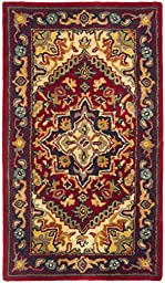 Safavieh Heritage Collection HG625A Handmade Traditional Oriental Red Wool Area Rug (3\' x 5\')