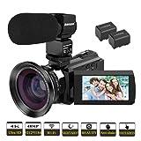 Video Camera, Kenuo 4K Camcorder 48MP 4K Video Camera Ultra HD Digital Video Camera with External Microphone 3.0