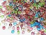 ジュエリア●最高品質のガラスストーン Vカット チャトンストーン アンホイル 7色MIX 30粒入り 3mm
