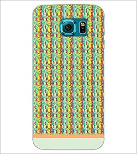 PrintDhaba Pattern D-1219 Back Case Cover for SAMSUNG GALAXY S6 EDGE (Multi-Coloured)
