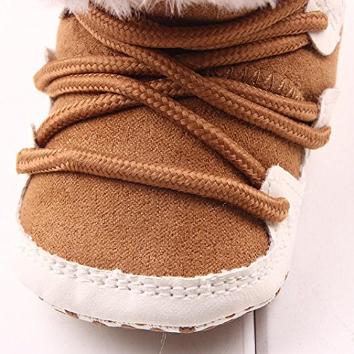 Voberry® Baby Infant Girls Flat Snow Fashion Cute Booties Boots (0-4months, Khaki)