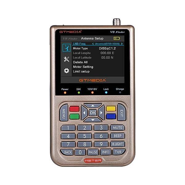 V8 Finder, KKmoon Freesat 1080P GT Media V8 Finder Meter DVB-S2 Digital Satellite Finder High Definition Satfinder