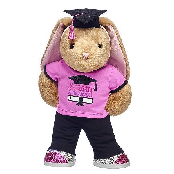 Build A Bear Workshop Online Exclusive Pawlette Plush Bunny Beauty & Brains Graduation Gift Set, 15 inches