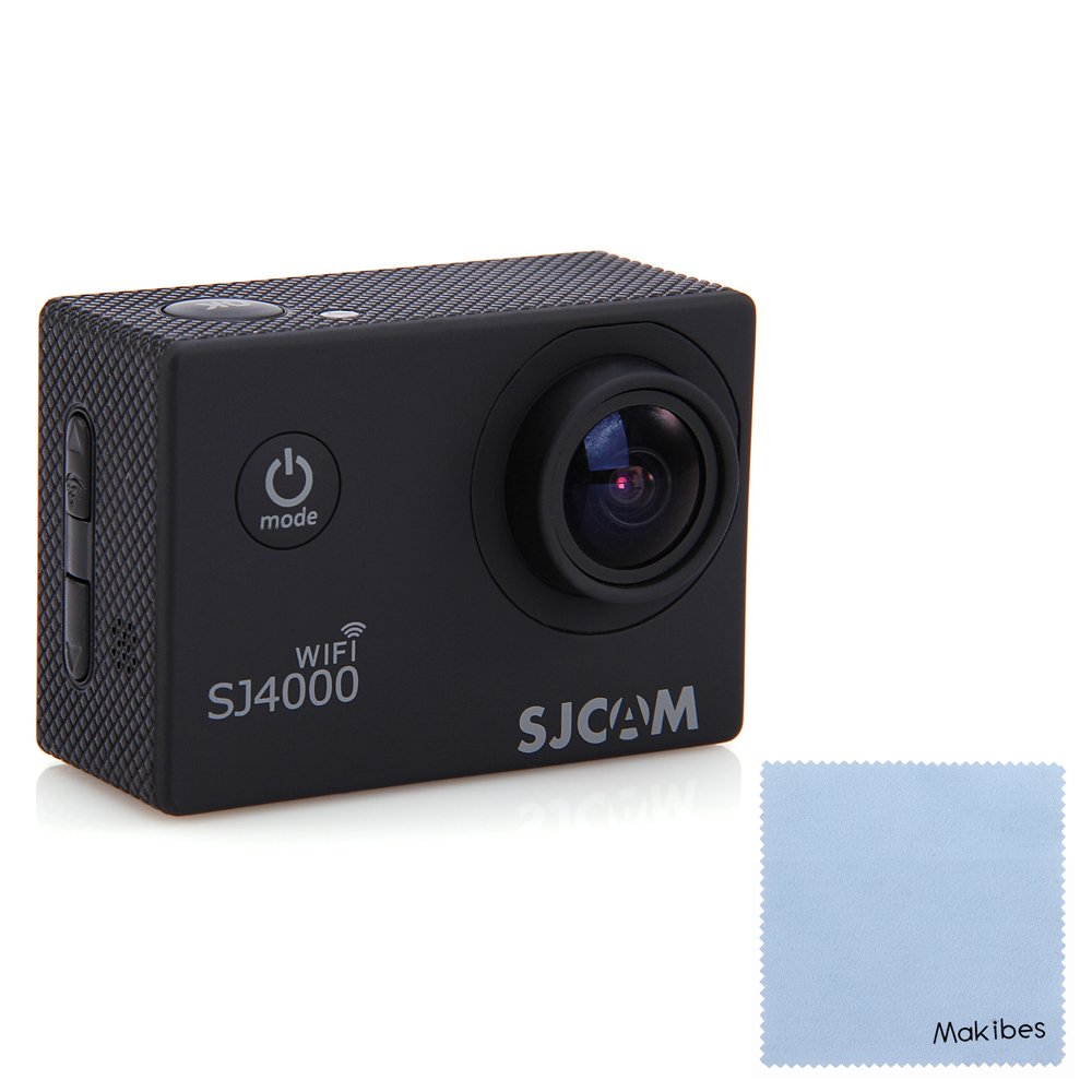 SJCAM Original SJ4000 WiFi Action Camera 12MP 1080P H.264 1.5 Inch 170° Wide Angle Lens Waterproof Diving HD Camcorder Car DVR With Makibes Cleaning Cloth (Black)