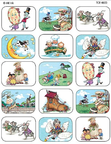 Teacher Created Resources Mother Goose Nursery Rhyme Jumbo Stickers from Mary Engelbreit, Multi Color (4823)