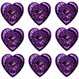Atorakushon PACK OF 9 Designer Multi Heart Shape FLOATING CANDLE T.lite Tealight Candle FOR DIWALI BIRTHDAY PARTY...
