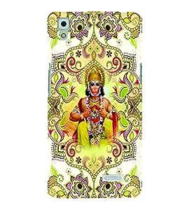 PrintVisa Religious & Spiritual Hanuman 3D Hard Polycarbonate Designer Back Case Cover for Oppo R7