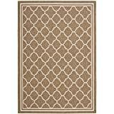 "Safavieh Courtyard Collection CY6918-242 Brown and Bone Area Rug, 6 feet 7 inches by 9 feet 6 inches (6'7"" x 9'6"")"