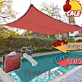 EVERGROW® 95% Blockage Outdoor 13' x 10' Rectangle Sun Shade Sail Patio Shelter Cover Red from EverGrow