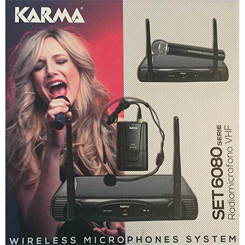 SET 6080LAV-A - Radiomicrofono VHF con Base Ricevente, Trasmittente da Cintura ed Un Microfono ad Archetto 175,50 mhz