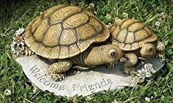 "12"" Joseph's Studio Turtle Mom & Baby ""Welcome Friends"" Outdoor Garden Statue"