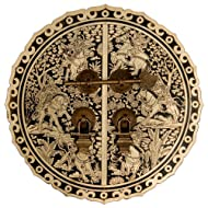 Six Horses Cabinet Face Plate 9-1/2''