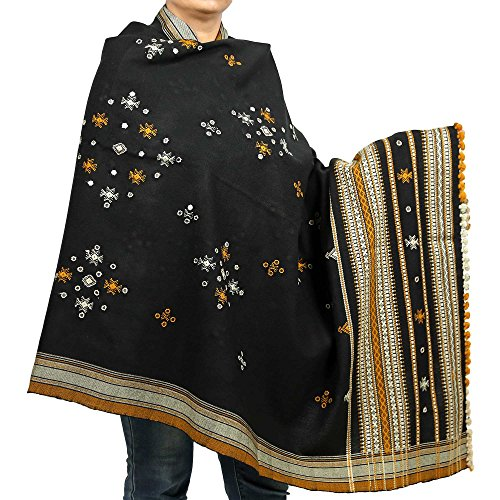 c2c84385f68 Embroidered Shawl Woolen Women's Accessory Wrap Indian Handmade ...