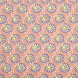 V&A Fabric - Scallop (Coral)