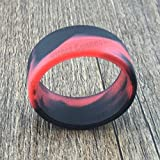 Tank Bands 21mm Silicone Tank Band Ring Bumper 21 COLORS AVAILABLE (4-PACK (Red/Black))