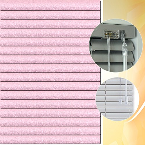 Aluminium Jalousie 120 x 150 cm (Breite x Höhe) – Lamellenfarbe 1409 pastelviolett glitter // Maßanfertigung Alu Jalousien Jalousette Rollo Plissee