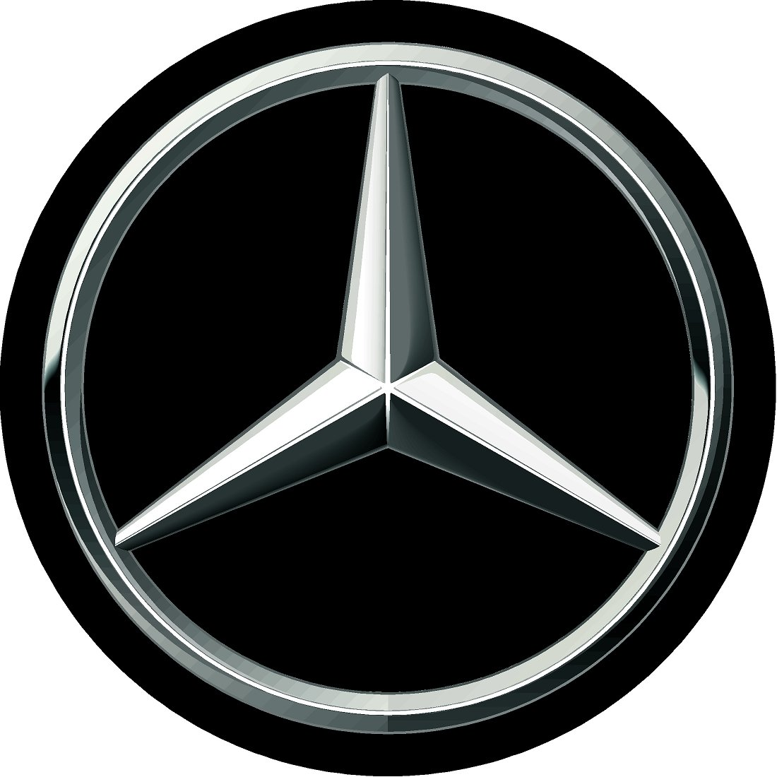mercedes benz black replacement decal sticker 6 piece set