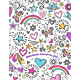 Sketchbook Journal for Girls: 110 pages, White paper, Sketch, Doodle and Draw