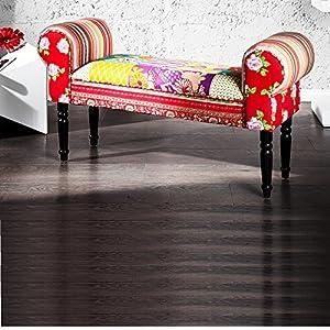 design patchwork sitzbank ibiza polsterbank 100x55 cm bunt gepolstert k che haushalt. Black Bedroom Furniture Sets. Home Design Ideas