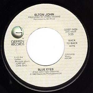 Elton John Blue Eyes Empty Garden Hey Hey Johnny Nm