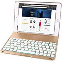 iEGrow F8S Slim Clamshell LED-Backlit Keyboard Case for iPad Air 2