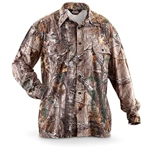 Guide Gear Airmesh Realtree Xtra Long - sleeved Camo Hunting Shirt by Guide Gear