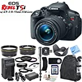 Canon EOS Rebel T5i Digital SLR Camera W Canon EF-S 18-55mm f 3.5-5.6 IS STM Lens & CS Picture Perfect Kit: Includes High Definition Wide Angle Lens - Telephoto HD Lens - Tulip Lens Hood - 3 Piece HD Filter Kit - 4 Piece Macro Close-Up Set - Cap Keeper - DSLR Series Padded Backpack - Canon LPE8 Replacement Battery - Rapid Travel Charger With Car Adapter - Monopod - Remote Shutter Release - 32GB SDHC Memory Card - SD Card Reader - Memory Card Wallet - Brush Blower - Cleaning Kit & CS Microfiber Cleaning Cloth
