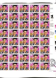 Elvis Presley Full Sheet of 40 x 29-cent Stamps, Scott 2721
