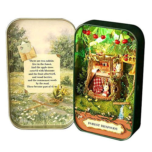 dollhouse-diy-3d-theater-miniature-box-led-doll-houses-kids-girl-toy-snow-dream-green