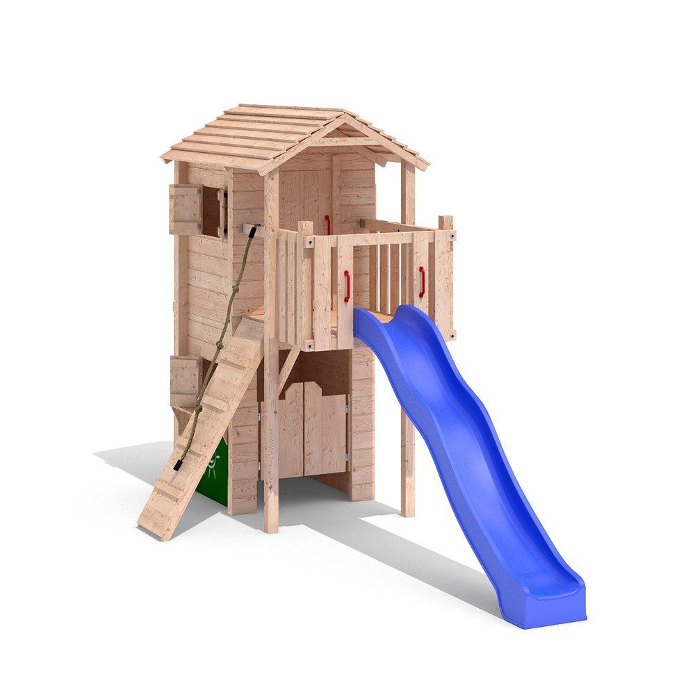 Domizilio Spielturm Spielhaus Kletterturm Spielwelt Rutsche