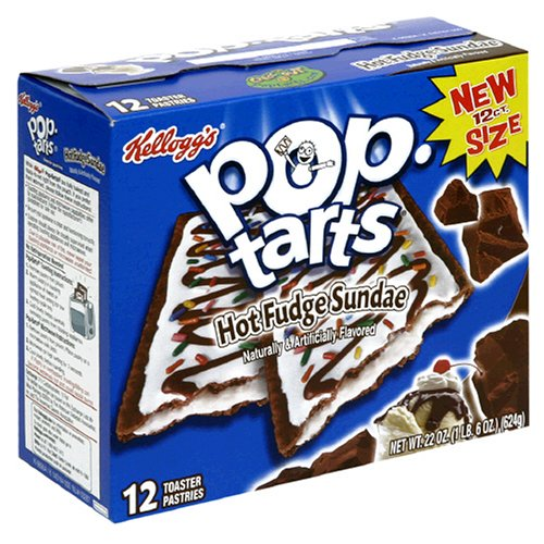 Buy Kellogg's Pop-Tarts Hot Fudge Sundae, 22-Ounce, 12-Count Boxes (Pack of 12) (Pop-Tarts, Health & Personal Care, Products, Food & Snacks, Breakfast Foods, Toaster Pastries)