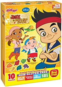 Amazon.com: Kellogg's Disney Jake and the Never Land Pirates Fruit Snacks, 8 Ounce (Pack of 10