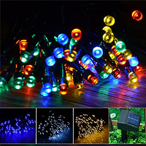 Inst Solar Powered Led String Light, Ambiance Lighting, 55Ft 17M 100 Led Solar Fairy String Lights For Outdoor, Gardens, Homes, Christmas Party (Multi-Color)