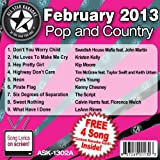 All Star Karaoke February 2013 Pop and Country Hits A (ASK-1302A)