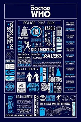 Empire Merchandising 657213Doctor Who-Info graphic Sprüche-Poster serie televisiva di fantascienza Poster-Grandi 61x 91,5cm