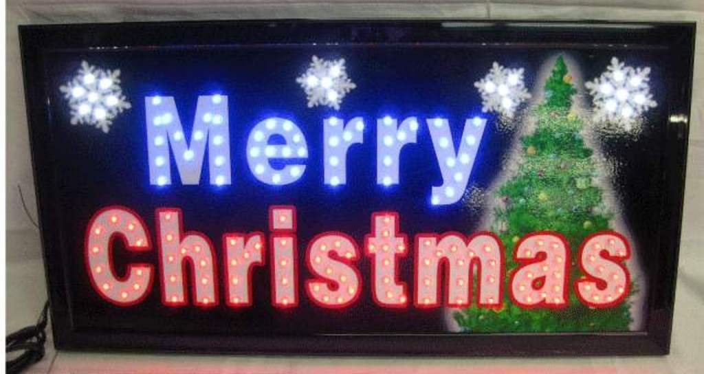 Lighted Merry Christmas LED Neon Sign