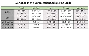 3 Pair EvoNation Men's USA Made Graduated Compression Socks 20-30 mmHg Firm Pressure Medical Quality Knee High Orthopedic Support Stockings Hose - Best Comfort Fit, Circulation, Travel (Large, Black) (Color: Black, Tamaño: Large)