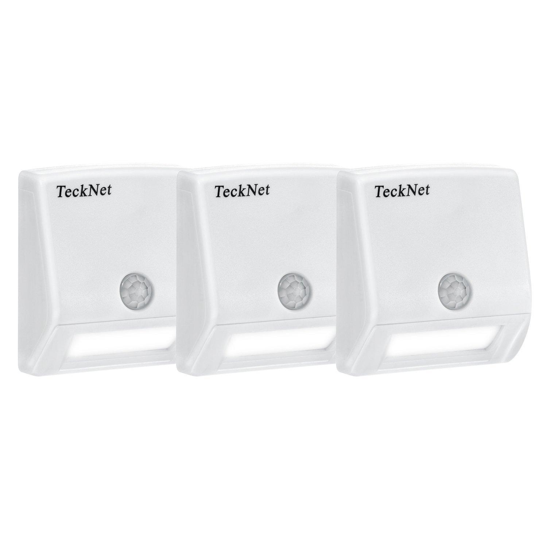 tecknet pack 3 battery powered motion sensing led stick. Black Bedroom Furniture Sets. Home Design Ideas