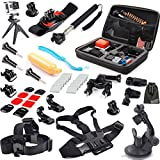 EEEKit 31-in-1 Travel Kit for GoPro Hero 4 Black/Silver HD 3+ 3, Large Size Protective Bag + Chest Belt Strap + Head Belt Strap + Extendable Handle Monopod + Suction Cup Mount Holder + Floating Handle Grip + Wrist Holder + Bike Handlebar Holder + Tripod Stand + 2 Pack Surface J-Hook + 2 Pack Curved Adhesive Mounts + 2 Pack Flat Adhesive Mounts + 2 PCS Curved Surface + 2 PCS Flat Surface + 2 PCS Surface Mount + 3 Pack Tripod Adapter + 5 Pack Long Screw + 12 PCS Anti Fog Inserts + EEEKit Pouch