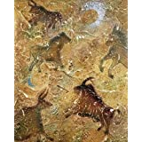 Pintura rupestre (grabado en relieve con textura en relieve ) Artistica di Stampa (40,64 x 50,80 cm)
